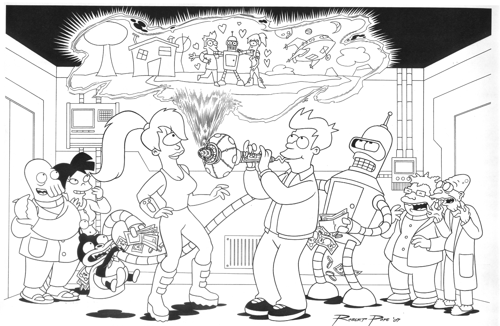 Futurama Knivvldr Coloring Pages Coloring Pages Futurama Coloring Pages